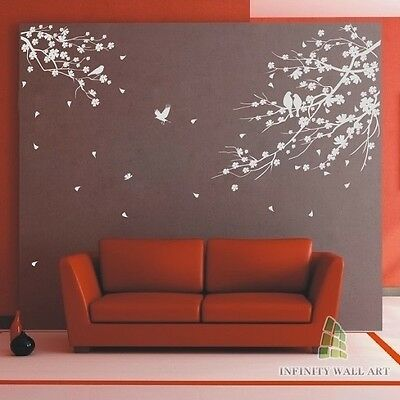 Wall Stickers Tree Flower Nursery Kids Wall Art Decals Butterfly Vinyl Decors502