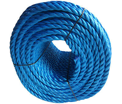 14mm Blue Polypropylene Rope Coils, Polyrope, PP Sailing, Agriculture, Camping