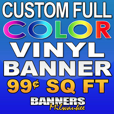 4'x8' Custom Full Color Vinyl Banner - Free Shipping