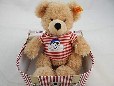Stieff Pirate Bear and Travel Case