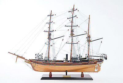 "CSS Alabama Confederate Tall Ship 32"" Built Wooden Model Boat Assembled"