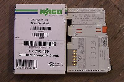WAGO 750-469 2AI Thermocouple K Diagn. Thermoelement
