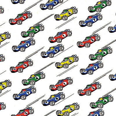 Printed Tissue Paper - Race Cars Pattern - 240 Sheets