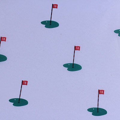 """Printed Tissue Paper - """"18th Hole - Golf"""" Pattern - 240 Sheets"""