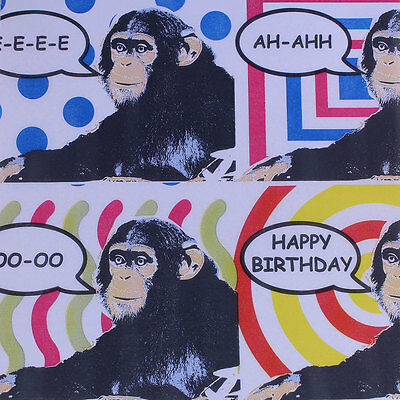 """Printed Tissue Paper - """"Chimps"""" Pattern - 240 Sheets"""