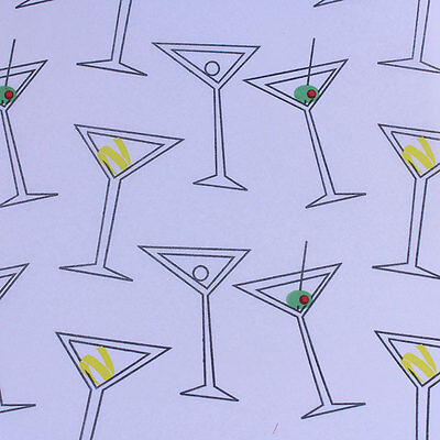 Printed Tissue Paper - Martini Time Pattern - 240 Sheets