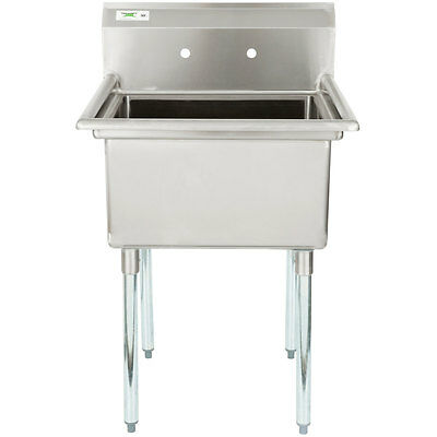 """28"""" 16-Gauge Stainless Steel One Compartment Commercial Sink 600S12323"""