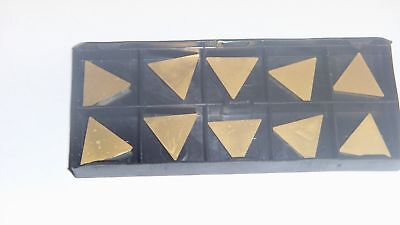 New 10Pcs Tpg-320 Tin Coated  Carbide Inserts