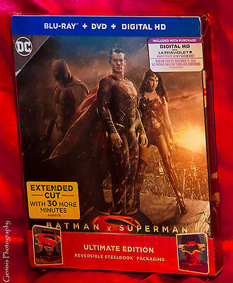 Batman v Superman Lenticular Ultimate Edition Blu-Ray Steelbook, Rare