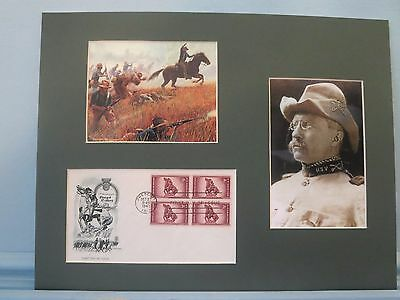 Rough Rider Teddy Roosevelt charges up San Juan Hill & First Day Cover
