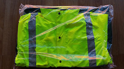 Hi Vis 4 In 1 Safety Jacket Yellow/green Size 2Xl 5Xl Only