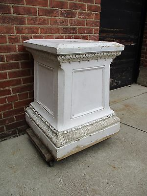 "LARGE Antique Terracotta Pedestal - 26"" x 26"" x 32"" Tall"