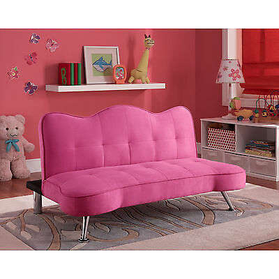 Astonishing Kids Pink Futon Couch Sofa Girls Tufted Bed Sleeper Lounger Andrewgaddart Wooden Chair Designs For Living Room Andrewgaddartcom