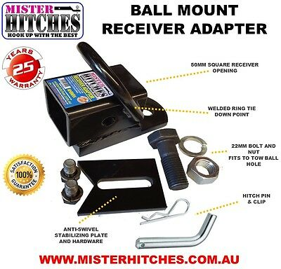 Hitch Receiver Adapter Tow Bar Suits Bike Carrier Rack Atv Hayman Reese Style