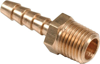 "Brass Straight Hose Tail 3/16"" Hosetail To 1/4"" Bspt Male Thread ENZ-P3-0304"