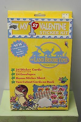 LAND BEFORE TIME MY FIRST VALENTINE STICKER KIT Dinosaurs Mello Smello 1997 NEW