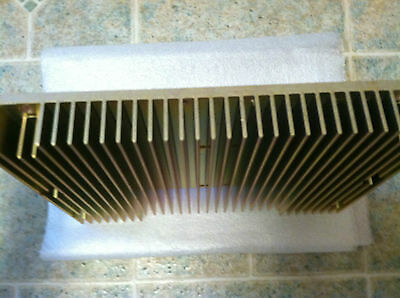 Large Aluminum Extrusion Heatsink 10'' 3/4 X 7 1/2'' X1 1/4'', Mountable