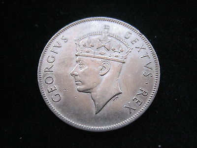"""Mds East Africa 1 Shilling 1952 """"george Vi.""""  #13"""