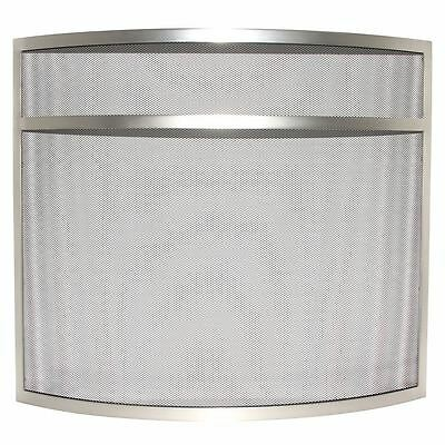Buckton Fire Guard Nickel Fireplace Fireside Spark Cover Shield Protector Screen