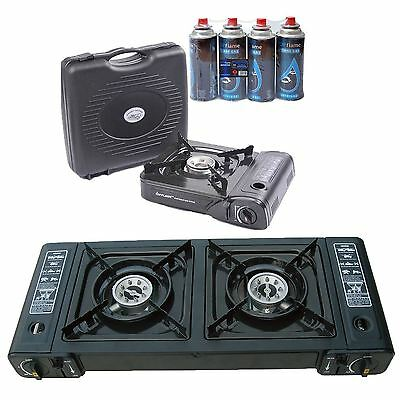 Portable Gas Stove Single/double Outdoor Camping Cooker Fishing Bbq Stove