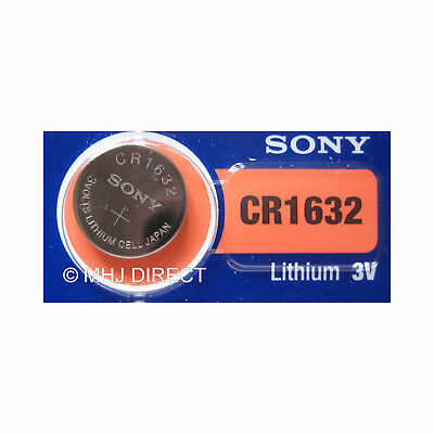 Genuine SONY CR1632 Lithium 3v Coin Cell Batteries SELECT 1 2 3 4 5 x & 10 + QTY