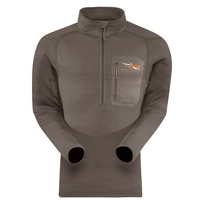 Sitka Pyrite Core Midweight Zip-T Long Sleeve Shirt (10036-Py)
