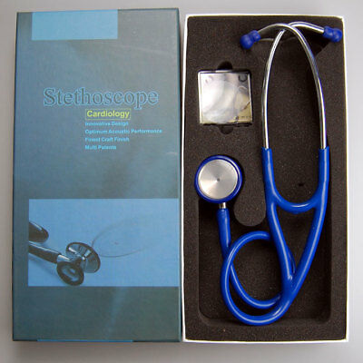 Cardiology Stethoscope Doctors Cardiologist CE Marked Blue Tubes Boxed Pro NHS
