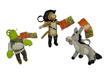 "L@@K Lot of 3 SHREK 5"" Clip-On  BRAND NEW WITH TAGS !"
