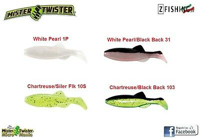 Esca Siliconica Mister Twister Micro Shad 3cm Rock Fishing Light Spinning