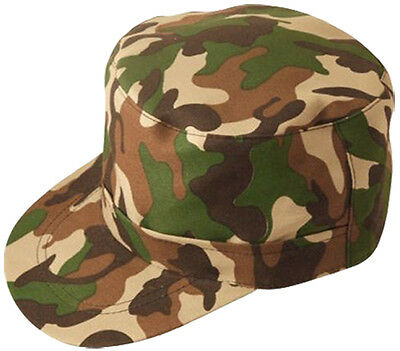 Unisex Military Hat One Size Camouflage Soldier Army Hat Cap Adults Fancy Dress