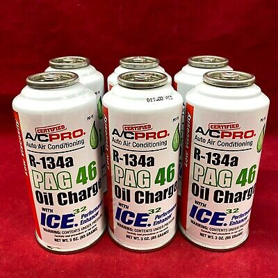 QTY 6: Genuine IDQ Quest Auto Air Conditioning Oil Charge PAG 46 Low Viscosity