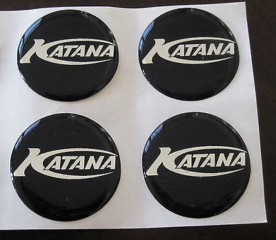 Katana Boat Button Circle Decal! 4 decals per listing Genuine OEM Marine Sticker