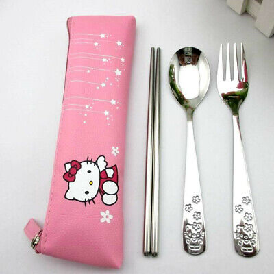 Set de cubiertos HELLO KITTY cuchara y tenedor Spoon and fork A343