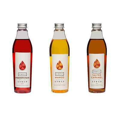 Simply Mini Coffee, Fruit & Iced Tea Syrups (250ml Bottles)