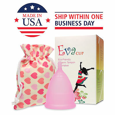 Anigan EvaCup (Made in USA - FDA Registered) Menstrual Cup - Cherry Blossom