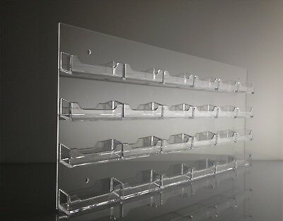 Clear Acrylic Wall Mount 24 pocket Business Card Display Holder  Display