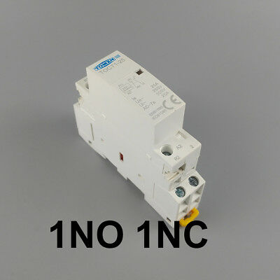 TOCT1 2P 25A 24V 1NC 1NO 50/60HZ Din rail Household ac contactor