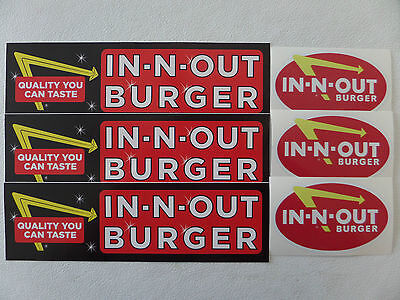 DISCONTINUED IN-N-OUT BURGER LOGO BUMPER STICKER double vintage animal style