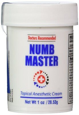 [1 oz] Numb Master 5% Lidocaine, Fast penetration, Water base, Made in USA