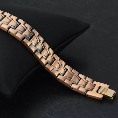 Mens Copper Stainless Steel Magnetic Healing Bracelet for Natural Therapy-CS18
