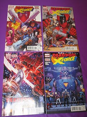 Deadpool vs X-Force #1-4 Complete Set Run Marvel Comics Comic VF/NM 2 3