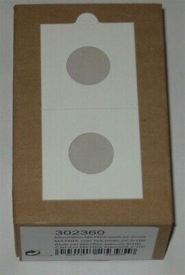 100 Lighthouse Self Adhesive 2x2 Nickel / Penny 22.5mm Coin Flips paper holders