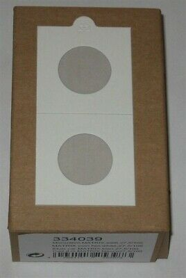 100 Lighthouse Self Adhesive 2x2 Small Dollar 27.5mm Coin Flips paper holders