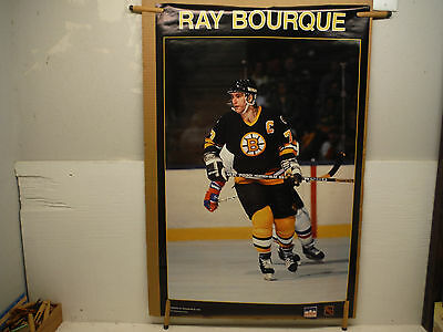 Boston Bruins Ray Bourque 1988 Vintage Poster
