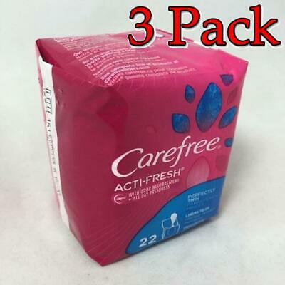 CareFree Acti-Fresh Body Shape Pantiliners, 22ct, 3 Pack 078300069911A102