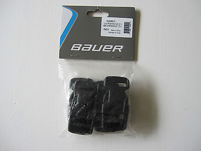 """Bauer Hockey Goalie Pads 1"""" Quick Release Buckles! 4 Pack, New Black Ice Roller"""