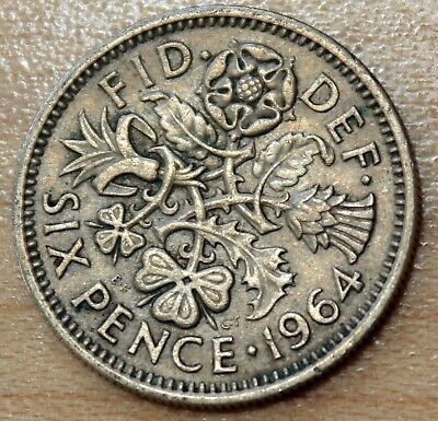 1954-1967 Great Britain 6 Pence Wedding Coin Choose your Year