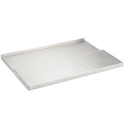 "18"" x 24"" Stainless Steel Underbar Ice Bin Sliding Lid Cover"
