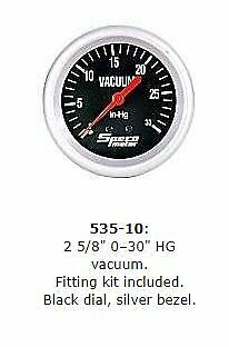 "Speco 2 5/8"" Performance Vacuum Gauge P/n 535-10"