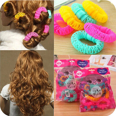6/8 Pcs Hairdress Magic Bendy Hair Styling Roller Curler Spiral Curls DIY Tool